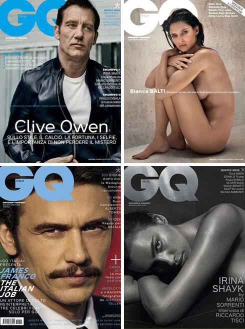 שערים של מגזין GQ בעריכתו של פרנטי