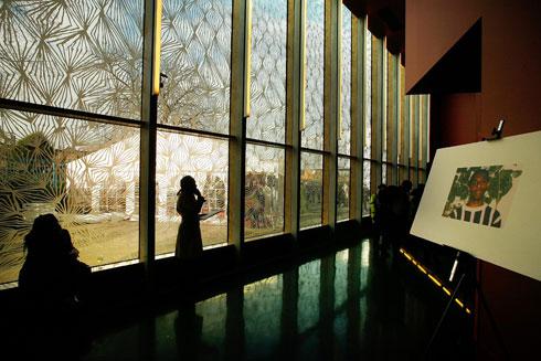 מרכז סטיבן לורנס בלונדון. החיפויים המוקפדים הם סימן היכר בכל העבודות של אדאג'יה, ומשכן ''בת שבע'' לא יהיה יוצא דופן (צילום: Gettyimages)