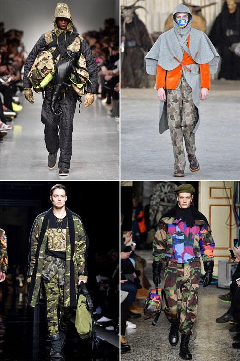 מדי צבא, גרסת האופנה. התצוגות של כריסטופר ריבורן, וולטר ואן בירנדונק, מוסקינו ובלמן (צילום: Gettyimages)