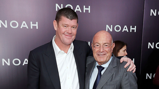 Packer (L) and Milchan (Photo: EPA)