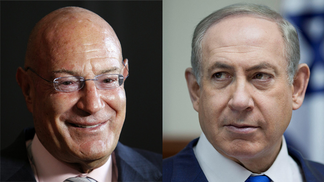 Milchan (L) and Netanyahu (Photo: Reuters, EPA)
