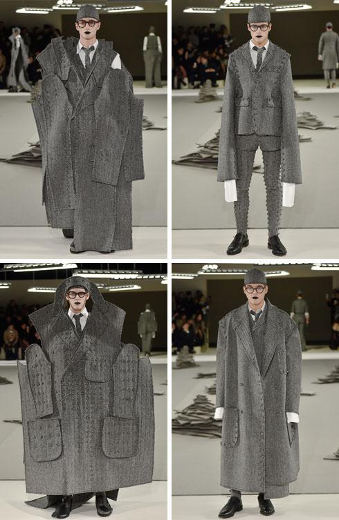 שיעור בחייטות של החליפה הגברית. התצוגה של תום בראון (צילום: Gettyimages)