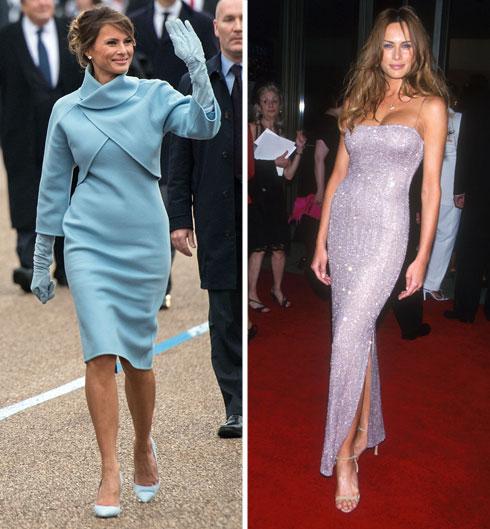יודעת להתאים את הלבוש לתפקיד. טראמפ ב-1999 (מימין) ו-2017 (צילום: Gettyimages)
