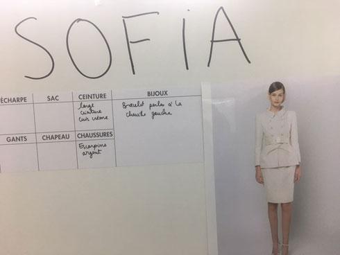 מאחורי הקלעים בתצוגת הקוטור של שאנל: מכינים את הלוק של סופיה מצטנר (צילום: סופיה מצטנר)