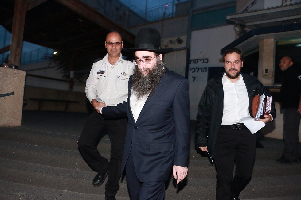 Rabbi Pinto upon his release (Photo: Dana Kopel) (Photo: Dana Kopel)