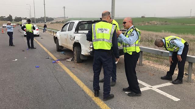 המשטרה תחקור את הנהג דרך מחשב הרכב (צילום: דוברות משטרה) (צילום: דוברות משטרה)