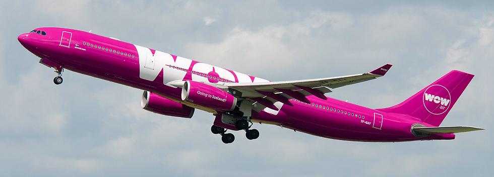 מטוס חברת התעופה האיסלנדית WOW AIR ()