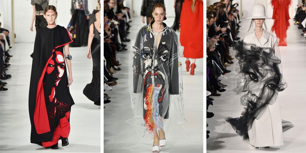 ג'ון גליאנו תואר בעבר כפיקאסו של בגדים, ולא בכדי. דמויות הפנים המפוסלות שהרכיב המעצב באמצעות בדי טול, ציור על בד ורקמה ידנית, יצרו מערכות לבוש בלתי נשכחות בתצוגה של מייזון מרג'יאלה, שמתחו את גבולות השפה של אופנה עלית והזכירו לנו מהו קוטור אמיתי (צילום: Gettyimages)