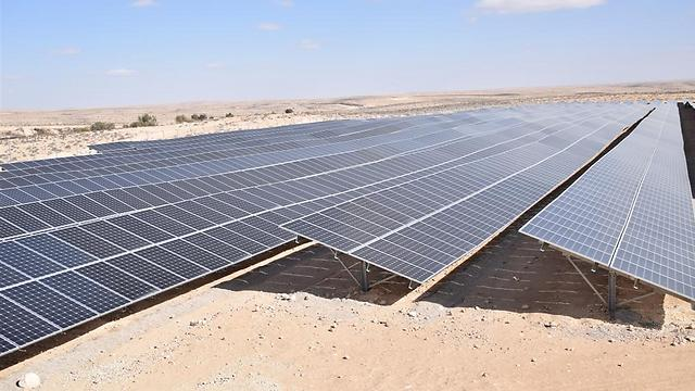 The Ramon Airbase solar farm (Photo: IDF Spokesperson)