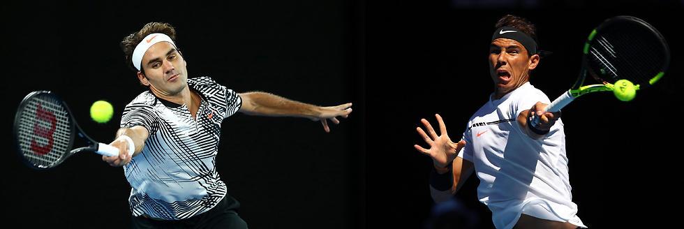 מוכנים לעוד צמרמורת אחת אחרונה? נדאל מול פדרר (צילום: getty images) (צילום: getty images)