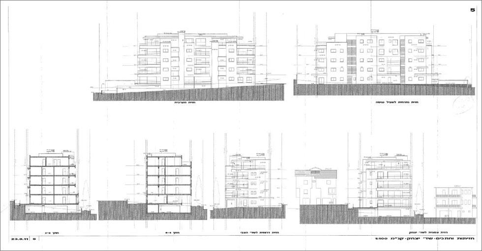 ואם הבית הוותיק בשדרות יצחק 5 ייהרס - זה יהיה הבניין שיחליף אותו. היזם מבקש לעלות לגובה 6 קומות בחזית לרחוב (מתוך הבקשה להיתר בניה)