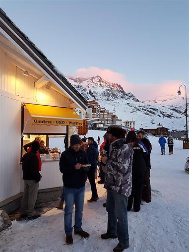 תנאי קור שלא הייתם מקבלים ברוח טובה בשום מצב אחר. חופשת סקי (צילום: יהודה נהר)