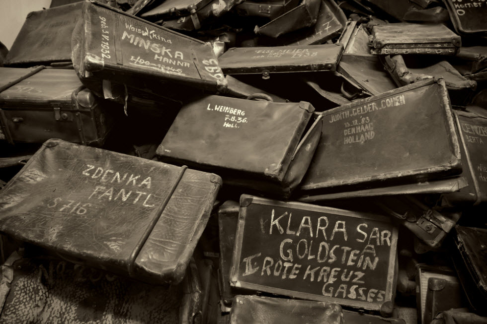 Suitcases looted from Jews at Auschwitz (Photo: Shutterstock) (Photo: Shutterstock)