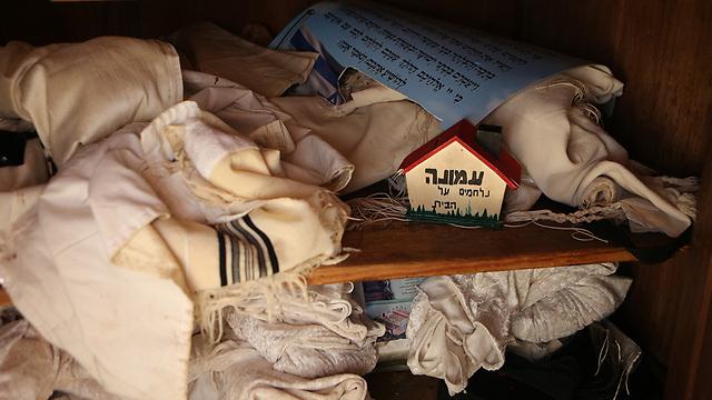 בית הכנסת בעמונה, לאחר הפינוי (צילום: אלכס קולומויסקי) (צילום: אלכס קולומויסקי)