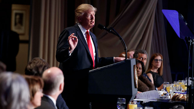 President Trump delivering his National Prayer Breakfast speech (Photo: AP)