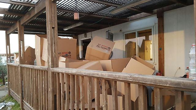 Boxes to pack the residents' belongings