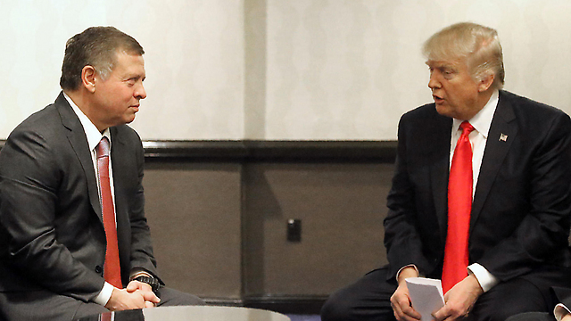 King Abdullah II of Jordan meeting with US President Trump in DC (Photo: Yousef Allan, AFP)