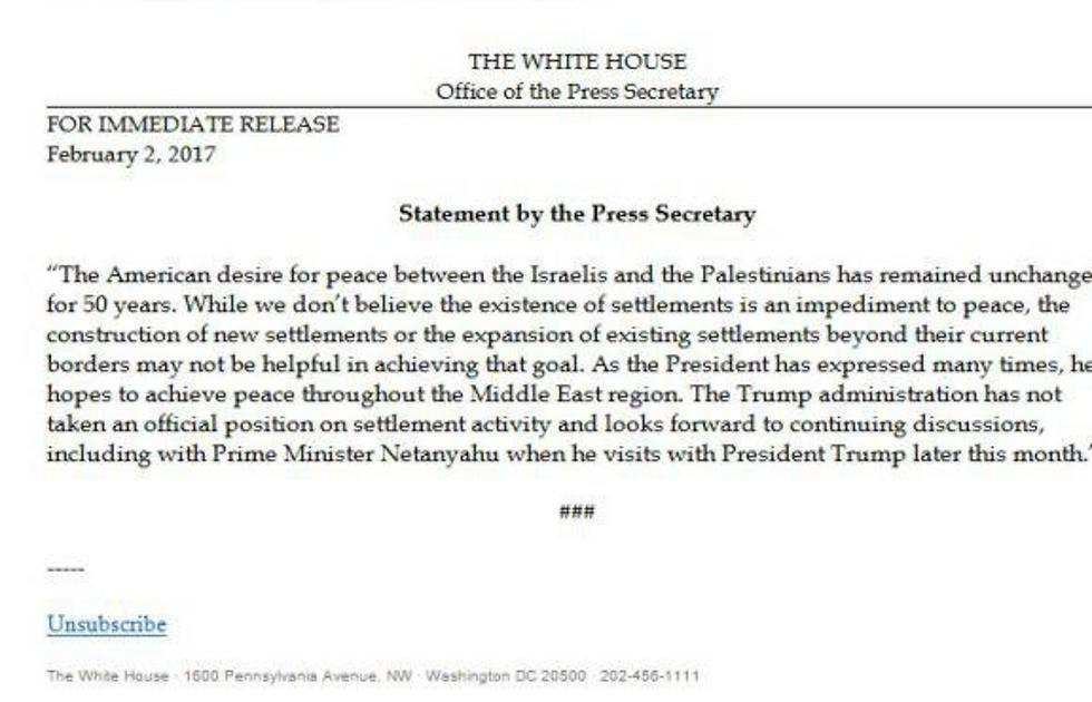 Statement by Press Secretary