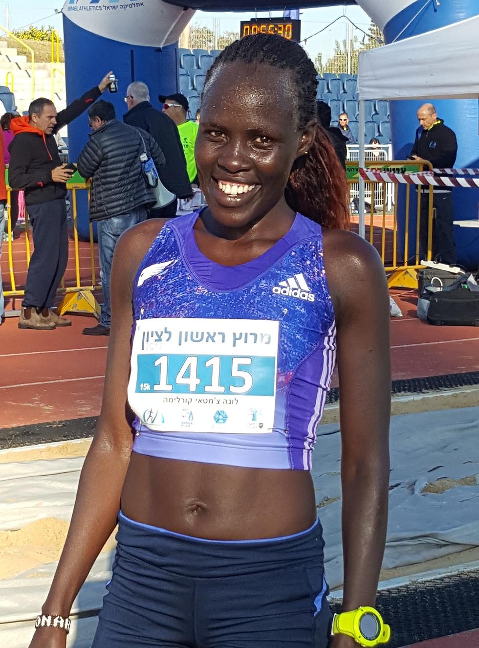 לונה צ'מטאי, שיא מרשים (צילום באדיבות איגוד האתלטיקה)