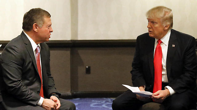 President Trump and King Abdullah II (Photo: AFP) (Photo: AFP)