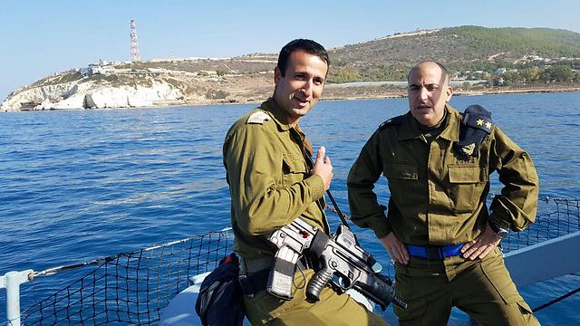 Lt. Col. Adi Ganon (L) and Lt. Col. Ronen Mirkam (Photo: Yoav Zitun)