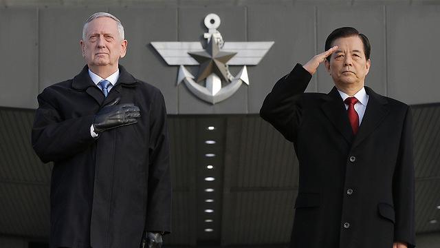 Mattis with South Korean Defense Minister Han Min-goo (Photo: AP)