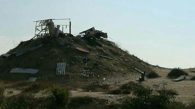 The destroyed outpost