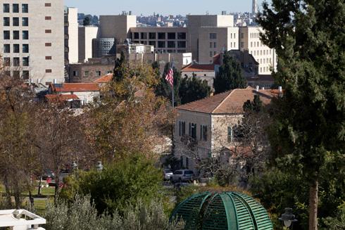 המיקום המרכזי מכולם: הקונסוליה ברחוב אגרון. הממשל חכר גם את הבניין הסמוך, שהיה מנזר (צילום: עמית שאבי)