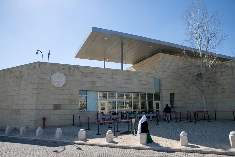 אופציה 5: הקונסוליה החדשה של מזרח ירושלים, ברחוב פלוסנר. מגרש של 24 דונם עם שטח בנוי קטן לפי שעה, כך שיש פוטנציאל למבנה חדש וגדול (צילום: אוהד צויגנברג)