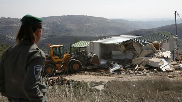 Amona demolition (Photo: Hillel Meir/TPS) (Photo: Hillel Meir/TPS)