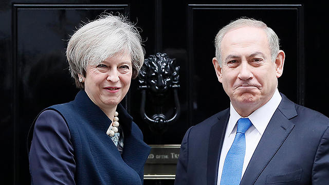 May (L) and Netanyahu (Photo: AP) (Photo: AP)