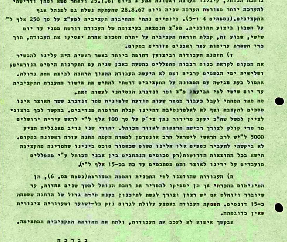 Before the Western Wall notes: 'Sums inserted between the Western Wall stones by worshippers' as a donation for the site's renovation (photo courtesy of Yad Levi Eshkol)