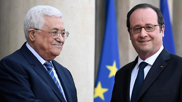 Hollande and Abbas (Photo: AFP) (Photo: AFP)