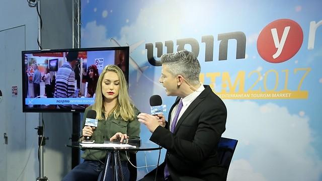 אולפן ערוץ החופש של ynet בתערוכת התיירות (צילום: ירון ברנר) (צילום: ירון ברנר)