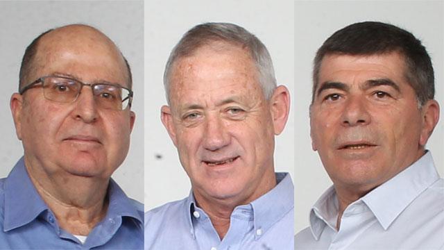 Moshe Ya'alon (L), Benny Gantz (C) and Gabi Ashkenazi (R) (Photo: Tomeriko)