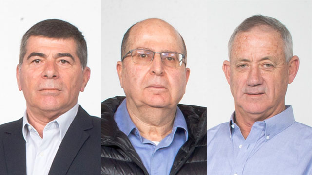Ashkenazi; Ya'alon; Gantz (Photo: Tomerico)