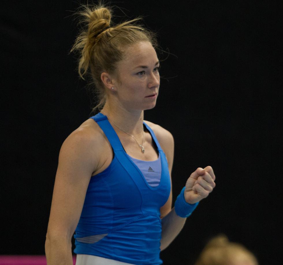 יוליה גלושקו (צילום: ניר קידר, איגוד הטניס) (צילום: ניר קידר, איגוד הטניס)