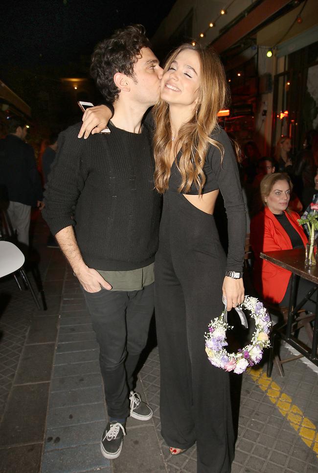 לו מותר לנשק אותה מול המצלמות. רודברג וידידיה ויטל (צילום: ענת מוסברג)