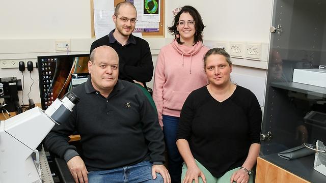 פרופ' כנרת קרן, ליטל שני-זרביב, אנטון ליבשיץ ופרופ' ארז בראון (צילום : שיצו צלמים, דוברות הטכניון)