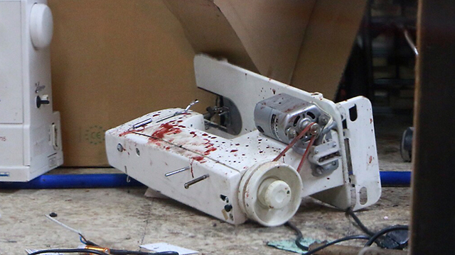 The sewing machine that was used to neutralize the terrorist (Photo: Dana Kopel)