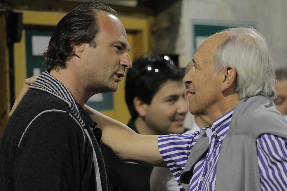 השקיע כספים יותר מכל אחד אחר. יאמר (משמאל) עם שפיגלר (צילום: אורן אהרוני) (צילום: אורן אהרוני)