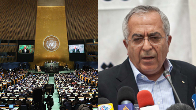 There is a clear Israeli fingerprint behind the effort to thwart Fayyad's UN appointment. The voice is Netanyahu's voice, the hands are Trump's hands (Photos: AFP, Noam Moskovich)