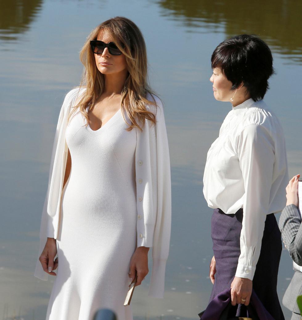 אשת הנשיא ואשת ראש ממשלת יפן (צילום: רויטרס) (צילום: רויטרס)