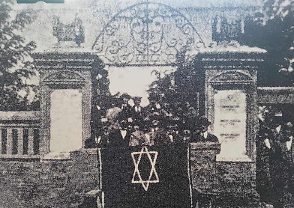 A funeral at a Jewish cemetery in the city of Tianjin