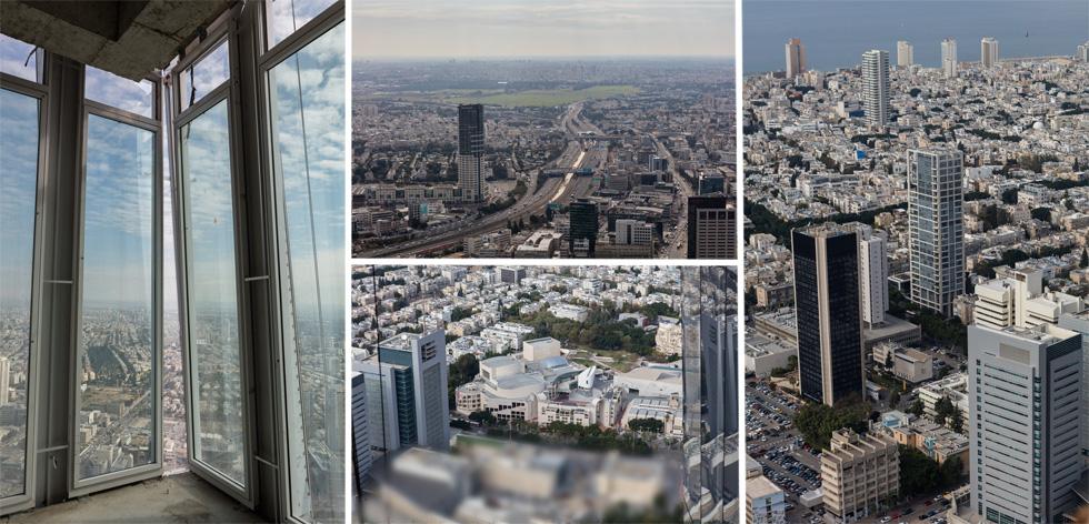 דברים שרואים מכאן:  מבט ממרומי המגדל על תל אביב וגוש דן כולו (צילום: אינסה ביננבאום)