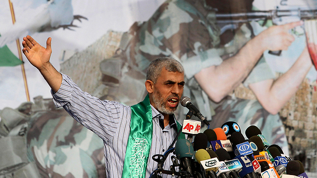 Hamas leader Yahya Sanwar. The obstacles he has to overcome are a bit too much even for a 'charismatic, popular and vengeful leader' like himself (Photo: AP)