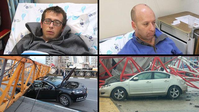 מימין: קאופמן ומכוניתו. בשמאל: שוחט ומכוניתו (צילום: מוטי קמחי) (צילום: מוטי קמחי)