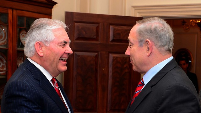 Secretary of State Rex Tillerson with Prime Minister Netanyahu (Photo: Avi Ohayon/GPO)