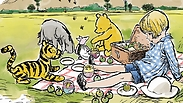 Kim Raymond in the style of E.H Shepard who illustrated Winnie-the-Pooh by A.A. Milne © Disney