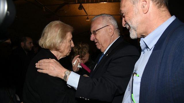 הנשיא ריבלין עם ראומה ויצמן (צילום: אביהו שפירא) (צילום: אביהו שפירא)